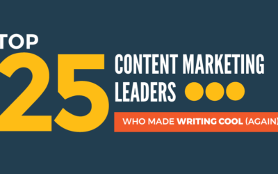 Top 25 Content Marketing Experts Who Made Writing Cool (Again)